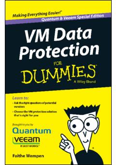 Ebook vm data protection for dummies quantum veeam