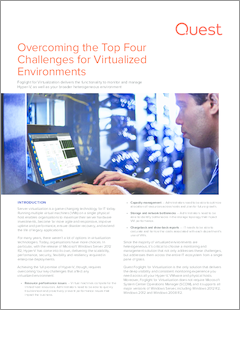 Overcoming the top four challenges for virtualized environments technical brief 17369
