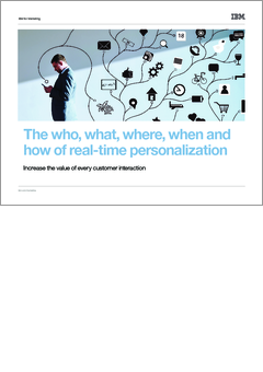 The who  what  where  when and how of real time personalization