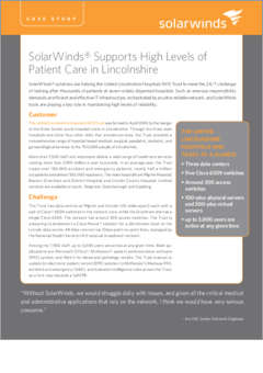 Healthcare npm united lincs hospital case study 2