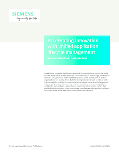 Siemens plm polarion accelerating innovation with unified application li...