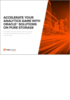 Accelerate your analytics game with oracle solutions on pure storage whitepaper