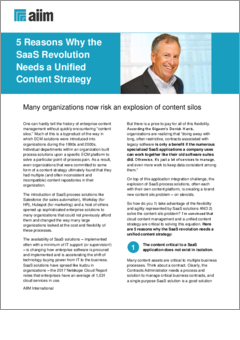 aiim tip sheet  5 reasons why the saas revolution needs a unified content strategy