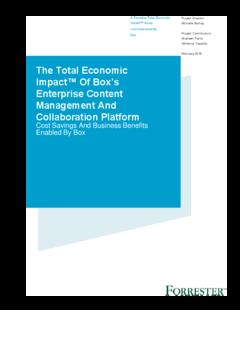 ebook  the total economic impact of box