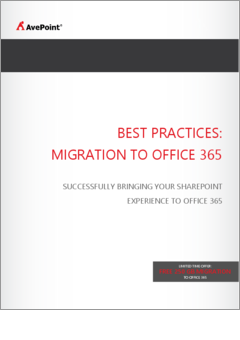 Avepoint best practices migration to office 365