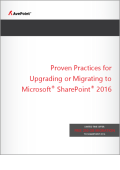 Avepoint best practices migration to sharepoint 2016