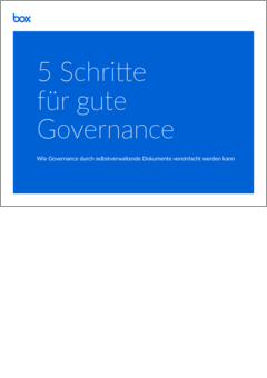 Guide 5 steps to good governance