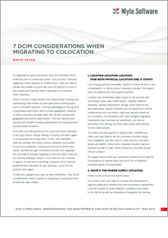 Nylte 7 dcim considerations migrating to colocation