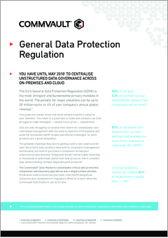 Gdpr centralise unstructured data governance across on premises and cloud