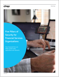 Five pillars of security for financial services organizations